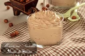 cuisine mousse au chocolat mousse au nutella sans oeuf amour de cuisine
