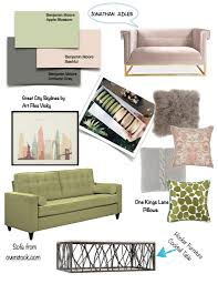 home design inspiration board green peach gray design theory
