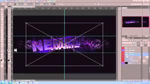 cinema 4d photoshop sick 3d youtube banner template reeper 2 0