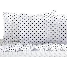 Black And White Bedroom Comforter Sets Polka Dot Reversible Bed In A Bag Bedding Set Walmart Com