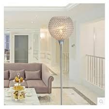 Golden Color Shades Floor Lamp Simple Modern Crystal Floor Lamps Silver Golden Color