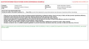 Document Controller Sample Resume by Energy Auditor Cv Work Experience Samples