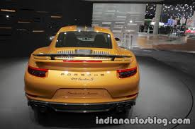 porsche 911 turbo s 2017 2018 porsche 911 turbo s exclusive series rear at the iaa 2017