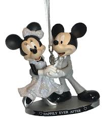ornament mickey minnie wedding happily after