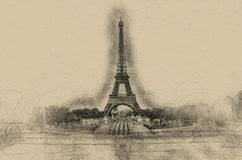 sketch eiffel tower stock photos download 150 images