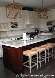perfection decor adding wood planks our kitchen island here the before