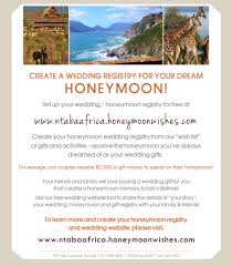 how to register for money for wedding safari honeymoon destination wedding africa ntaba