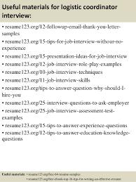 Sample Resume Logistics by Logistic Coordinator Resume