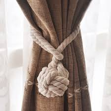 Curtain Rope Tie Backs 1pcs Knitting Curtain Rope Rural Cotton Rope Tie Backs