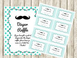 raffle baby shower turquoise mustache baby shower raffle ticket cards and sign