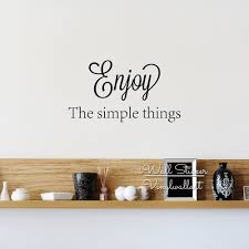 compare prices on wall decoration quotes online shopping buy low life quote wall sticker enjoy the simple thing inspirational wall quotes decal diy cut vinyl removable