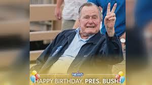 george h w bush date of birth former president george h w bush celebrating 93rd birthday in