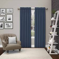 Blue Window Curtains by Pairs To Go Teller 2 Pack Window Curtains Walmart Com