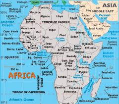 africa map 54 countries shipping logistic scope map indications africa area logistic scope