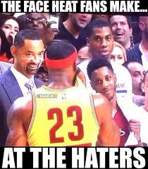 Lebron Hater Memes - the face miami heat fans make at the haters lebron cavs http
