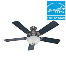 hunter sonora 52 in indoor antique pewter ceiling fan with light