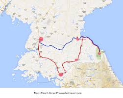 Korean Air Route Map by North Korea Photosafari From 29th May To 5th June 2015 Photosafari
