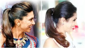 Hairstyle Easy Ponytail Hairstyle Deepika Padukone Shrutiarjunanand