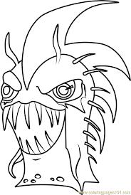 dark urchin coloring free slugterra coloring pages