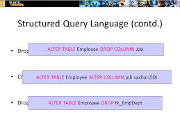 Alter Table Drop Column Week 8 9 Sql 1 Sql Components Ddl Dcl U0026 Dml Sql Is A Very