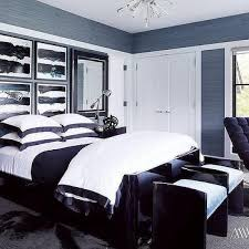 Blue And Black Bedrooms Design Ideas - Blue and black bedroom designs