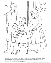 big bad wolf red riding hood coloring pages