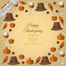 thanksgiving template background vector free