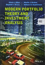 modern portfolio theory and investment analysis amazon co uk