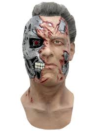 skin mask halloween terminator t 800 mask mask made of flesh and face without skin