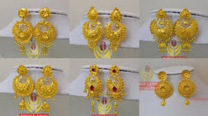 new jhumka earrings new bridal gold earrings designs jhumka style images