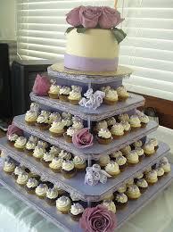 wedding cupcake tower lavender wedding cupcake tower