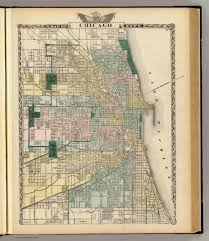 Chicago City Map by Map Of Chicago City David Rumsey Historical Map Collection
