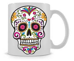 mexican sugar skull cool photo coffee mugs mug ceramic tea cups