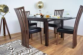 Extending Wooden Dining Table And  Chair Set Burn Beech AHOC LTD - Beech kitchen table