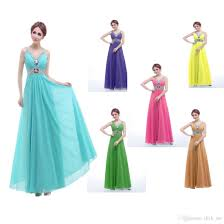 cheap bridesmaid dresses beads crystals a line blue purple gold