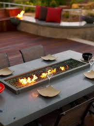 Build Outdoor Garden Table by Splashy Tabletop Fire Pit In Deck Beach Style With Build Natural