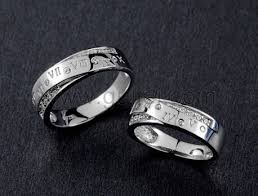 personalized name promise rings set for men and women personalized