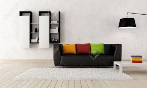 colorful modern furniture colorful contemporary living room with black leather couch