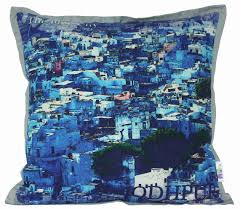 the blue city digital cushion cover from the exclusive home decor home decor indian popular fabric home furnishing cotton canvas cushion