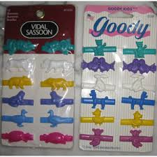goody barrettes 24 new vintage 1997 goody vidal sassoon hair barrettes