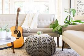 Tufted Pouf Ottoman by Fun With Indoor Plants Natural Decor Diy Loversiq
