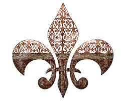 fleur de lis home decor fleur de lis metal outdoor wall art outdoor designs
