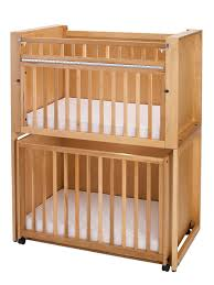 double decker bunk bed stacked cribs must save space right