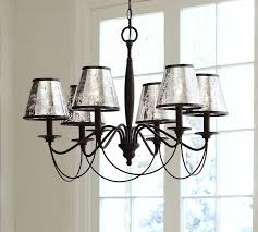 Antique Glass Chandelier Antique Mercury Glass Chandelier Shade Set Of 3 Pottery Barn