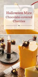 halloween mice chocolate covered cherry recipe hallmark ideas