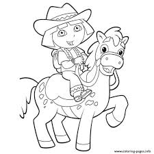 dora horse coloring pages printable