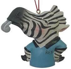 zebra referee ornament sports memorabilia memorabilia