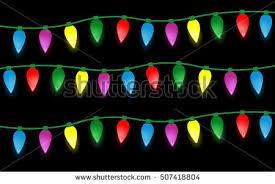 vector illustration strings christmas lights light stock vector