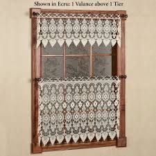 Drapes For Windows by Medallion Macrame Lace Tier Window Treatment