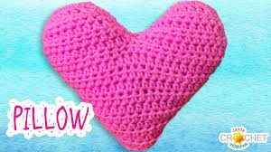 Free Cushion Crochet Patterns How To Crochet A Heart Pillow Cushion Youtube